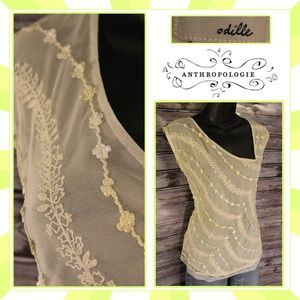 3/30<Ribboned Mesh Top by Odille for Anthropologie